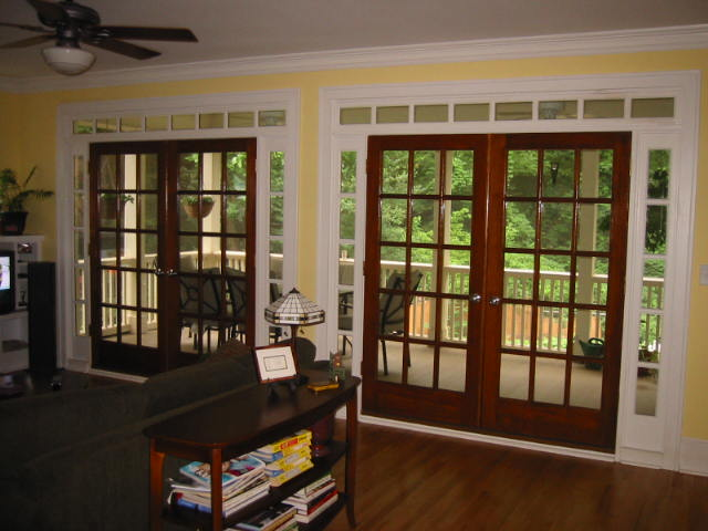 Best interior design house for Sliding glass door to french door