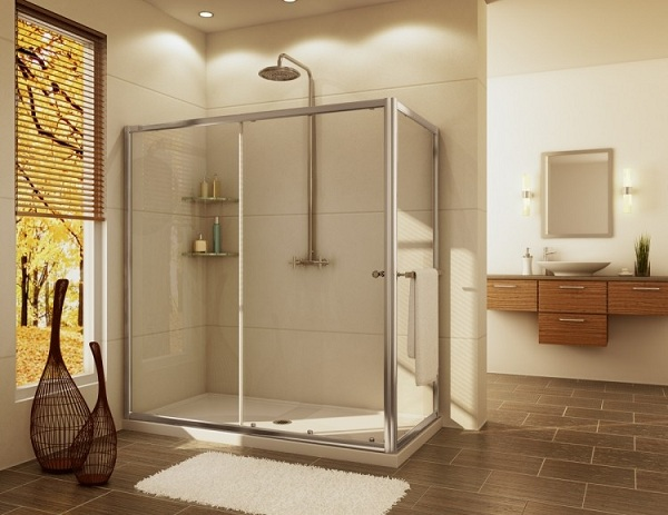 2 Panels Sliding Shower Doors