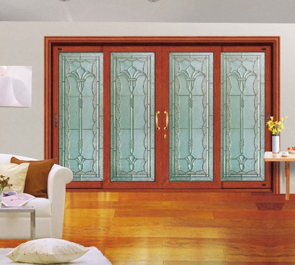 Elegant Interior Sliding Glass Doors with Wooden Frame