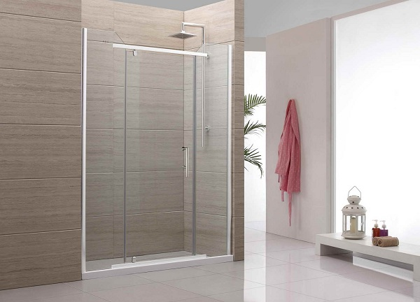 Decorating minimalist bathroom with sliding shower doors Sliding glass shower doors