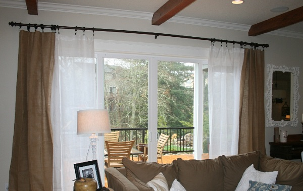 Brown Sliding Door Drapes