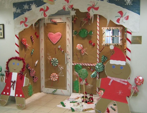 Christmas Decorations Sliding Glass Doors : Simple christmas door decorations