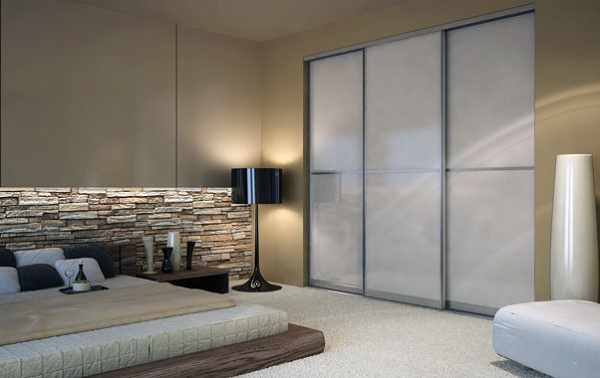 Frosted Glass Closet Door Image