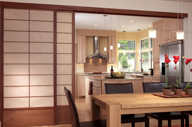 Japanese Sliding Doors as Room Dividers