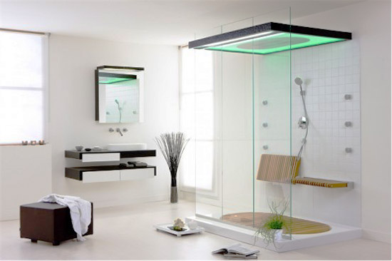 Sliding Shower Doors for Modernistic Minimalist Bathroom