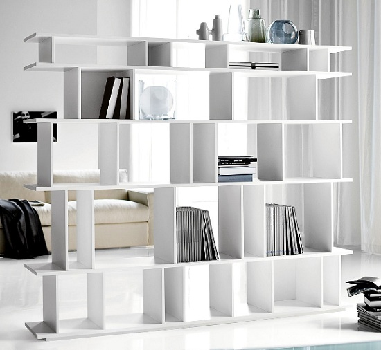 Bookcase Room Dividers White BookCase