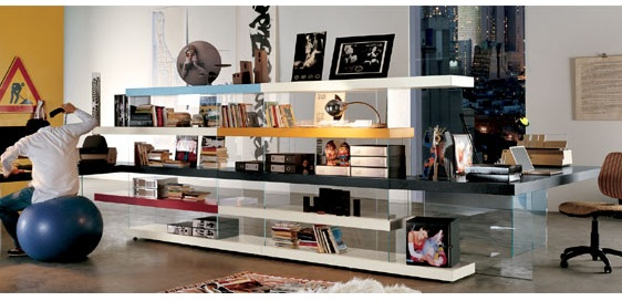 Creative Bookcase Room Dividers