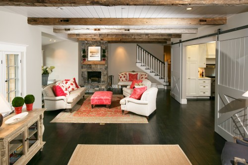 Traditional Sliding Barn Doors for Living Room