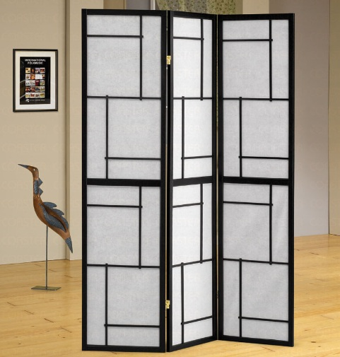 Wood Frame Room Dividers Folding Style Screen