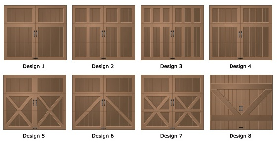 Wood Garage Door Designs