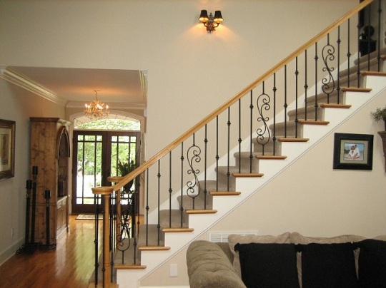 Wrought Iron Balusters with Traditional Design