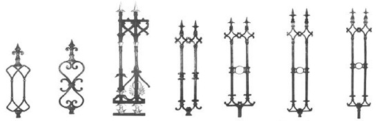 Wrought Iron Fences - Panel Design 1