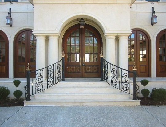 ... Stair Railings Wrought Iron Railing   Exterior Outdoor Wrought Iron  Railings Image ...