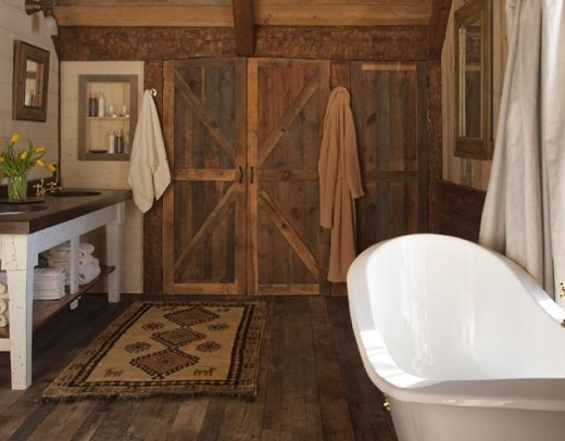 Barn Doors for Contemporary Bathroom