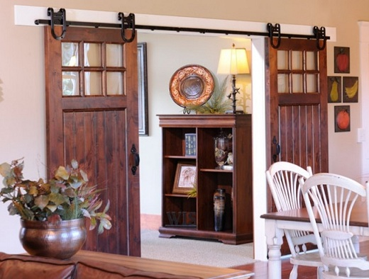 Beautiful Sliding Barn Door as a Room Divider