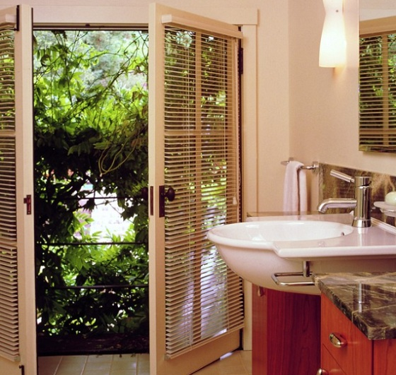 Horizontal Blinds for Bathroom French Doors