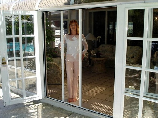 French patio patio and doors on pinterest for Retractable patio doors