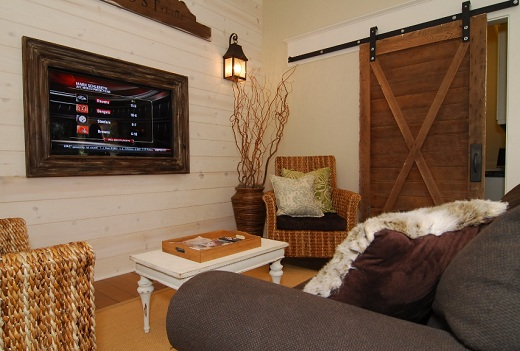 Sliding Barn Door on Living Room