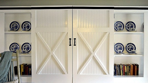 White Barn Door as a Cabinet Door