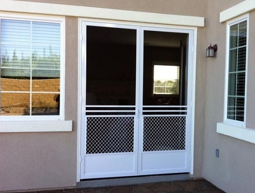 White Screen for French Doors and Windows
