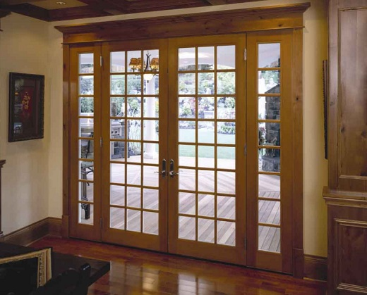 Classic Style Wooden French Patio Door