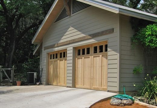 Custom Cedar Wooden Garage Doors with Windows