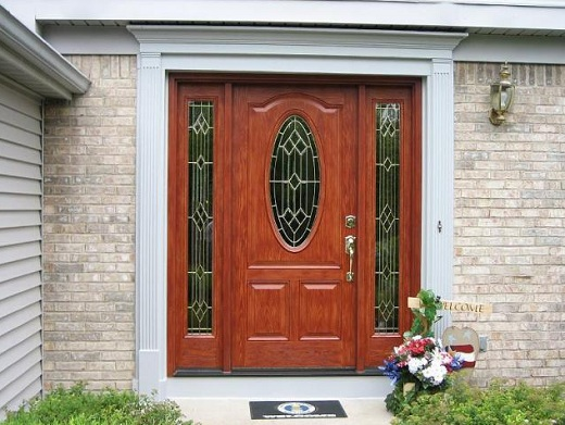 Elegant Fiberglass Entry Doors with Sidelights