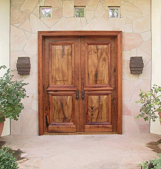 Elegant Wooden Front Entry Door