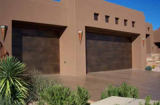 Flush Copper Clad Garage Doors