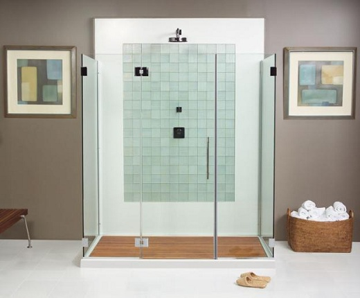 Modern Bathroom with Frameless Glass Shower Door