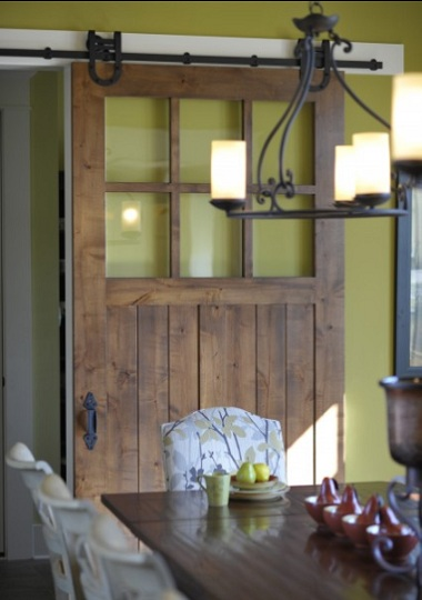 Sliding Barn Door with Glass as Pantry Door