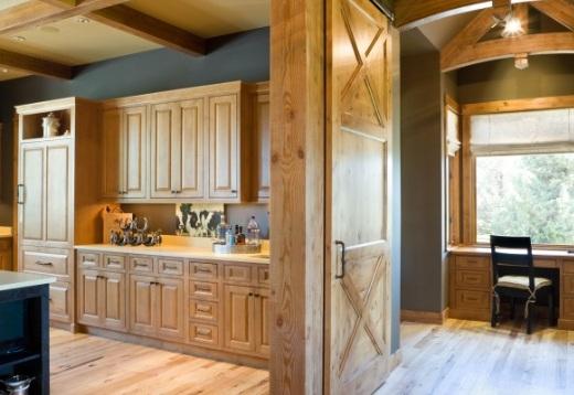 Sliding Barn Doors as Room Divider in Wonderful House