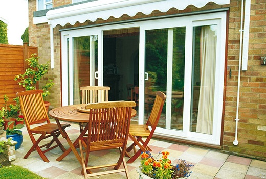 Sliding Glass Patio Door White Frame