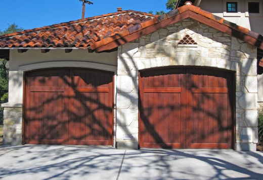 Stained or Painted Wood Garage Doors