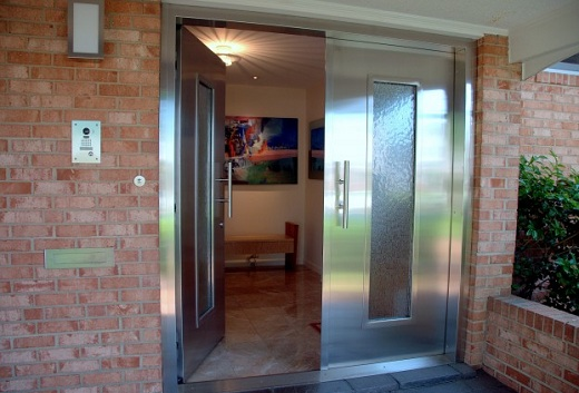 Stainless Steel Front Entry Door for Contemporary House