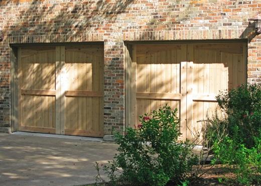Rustic Unfinished Wood Cedar Garage Doors